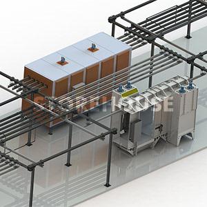 Двухпостовая камера напыления и печь полимеризации