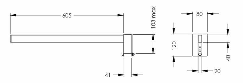 Размеры сепаратора SHDY-02
