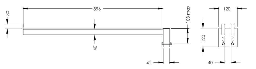 Размеры сепаратора SHDY-03