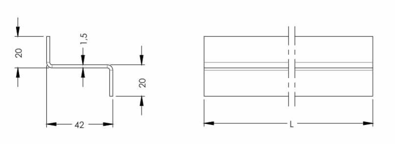 Размеры Z-профиля для DIY стеллажа