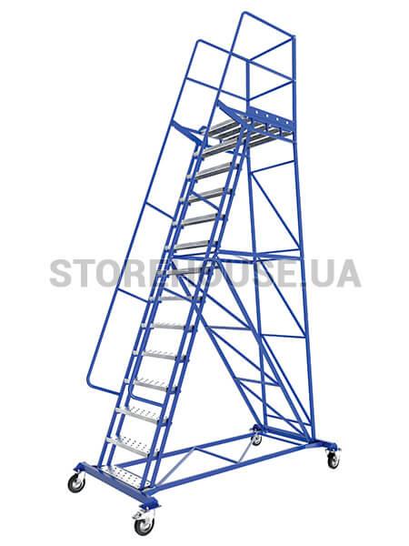 Платформенные металлические лестницы для склада