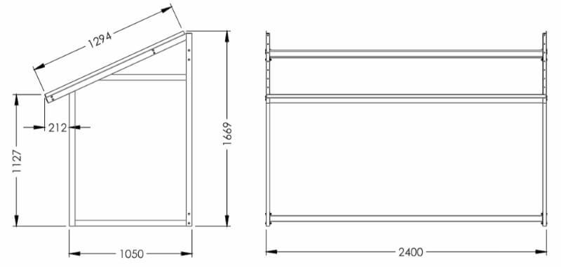 Размеры экспозитора SHEE-NP3