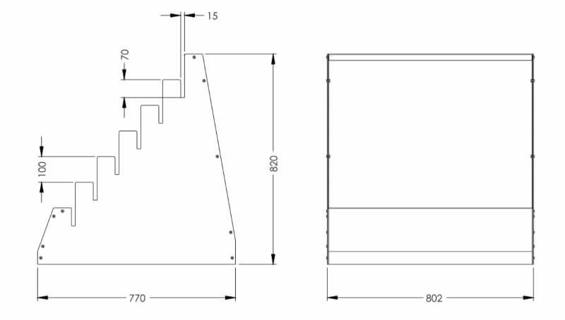 Размеры экспозитора SHEE-PL10