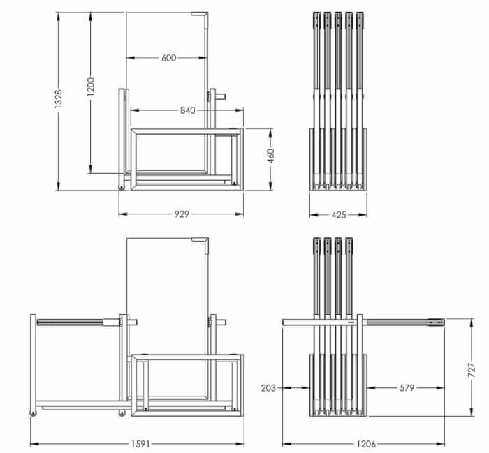 Размеры экспозитора SHEE-PL11
