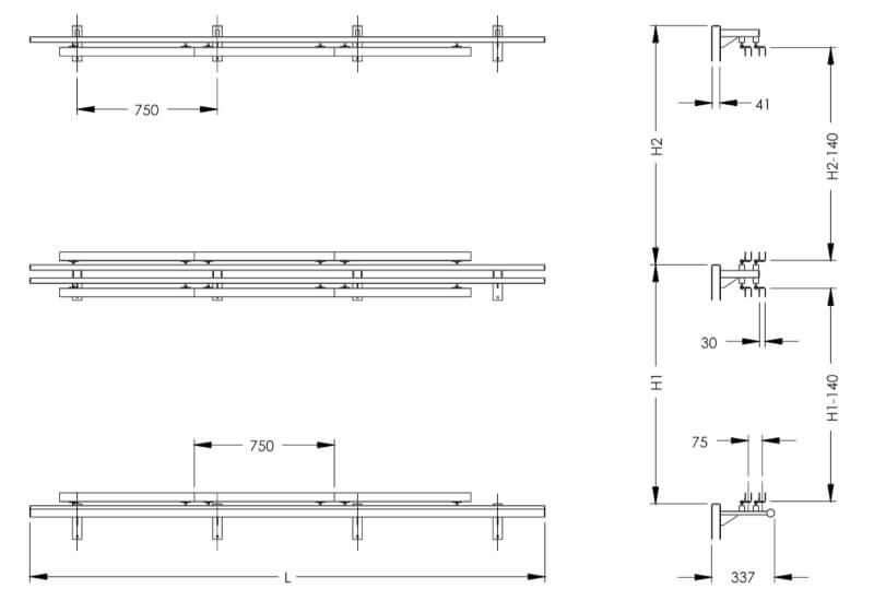 Размеры экспозитора SHEE-PL14