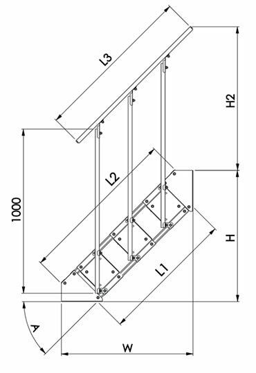 Размеры типовых лестниц SHLA