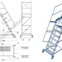Лестница с высотой платформы 2 м
