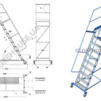 Лестница с высотой платформы 2,5 м