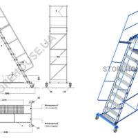 Лестница с высотой платформы 2,75 м