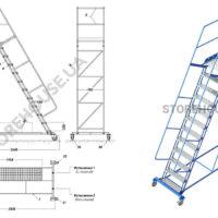 Лестница с высотой платформы 3 м