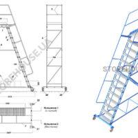 Лестница с высотой платформы 3,5 м