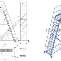Лестница с высотой платформы 4 м