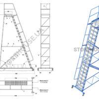 Лестница с высотой платформы 5 м