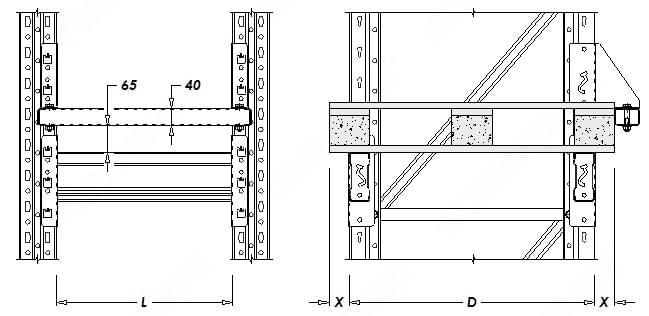 Паллетные (фронтальные) стеллажи